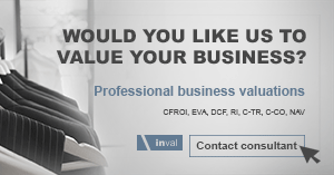 Business valuation - Corporate valuation