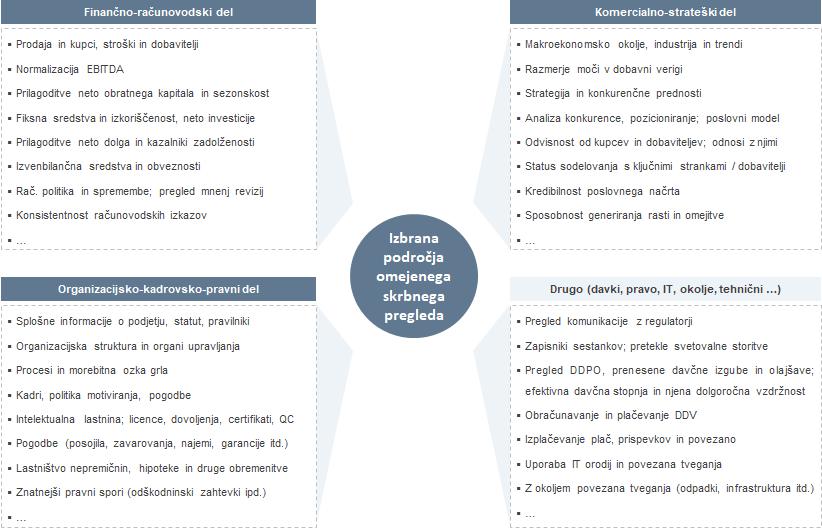 Skrbni pregled podjetja - komercialni, finančni, strateški
